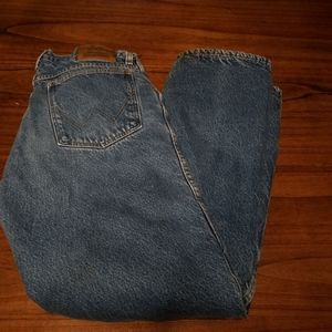 Wrangler Rugged Wear Lined Blue Jeans